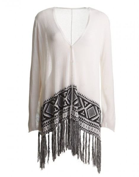 indians poncho knittet wit