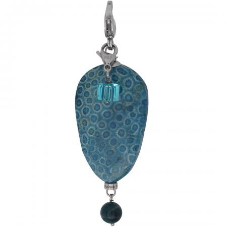 105 Moesss2Be Style A98 Flower Fossil Stone Blue