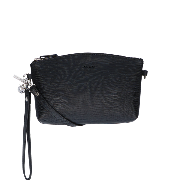 06POUCH107  Lovely Lizard - 001 Black